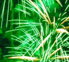 Bright green fireworks Sticker