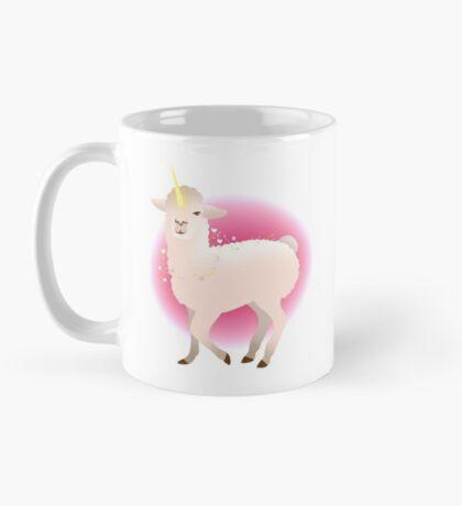 llamacorn llama in pink halo Mug