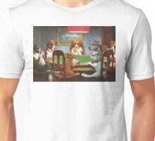 """""""Un ami dans le besoin"""" - Chiens Jouant au Poker Unisex T-Shirt"""