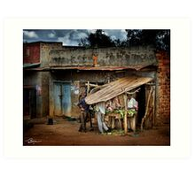 Uganda: The Butcher Shop Art Print
