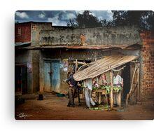 Uganda: The Butcher Shop Metal Print