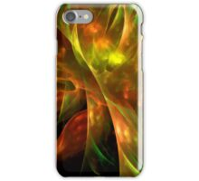 Abstract colorful lightning fractal black background futuristic iPhone Case/Skin