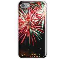 Green and red fireworks iPhone Case/Skin