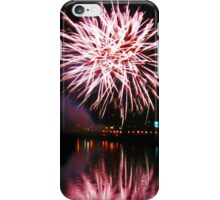 Purple fireworks over the river iPhone Case/Skin