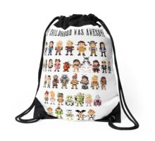 My childhood was awesome Drawstring Bag