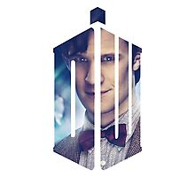 Doctor Who - Logo mash up Photographic Print