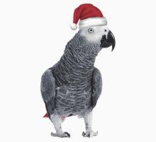 African Grey Parrot - Merry Christmas! Kids Tee