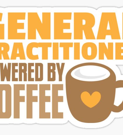 GP General practitioner powered by coffee Sticker