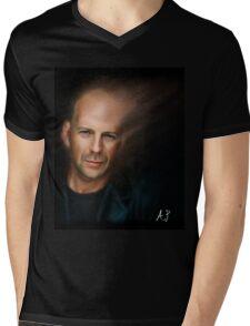 Bruce Willis Mens V-Neck T-Shirt