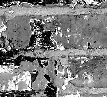 Brick Abstract 5 BW by marybedy