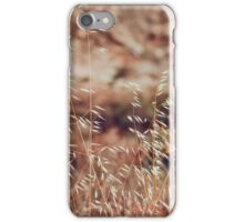 Beautiful field with dry grass in delicate beige and purple tones iPhone Case/Skin