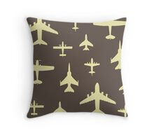 Airplane Pilot Fly Past Captain Overhead Throw Pillow