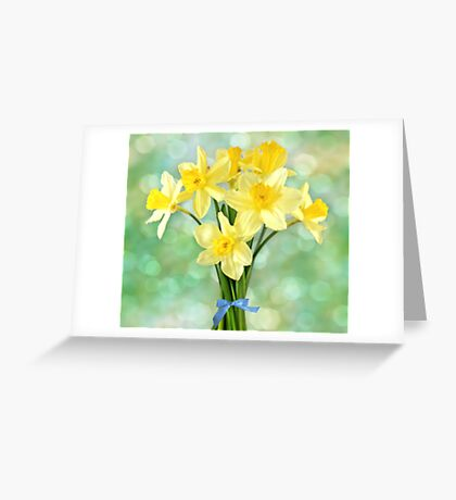 March Daffodils Greeting Card