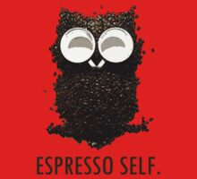 Espresso Self w/ text Kids Clothes