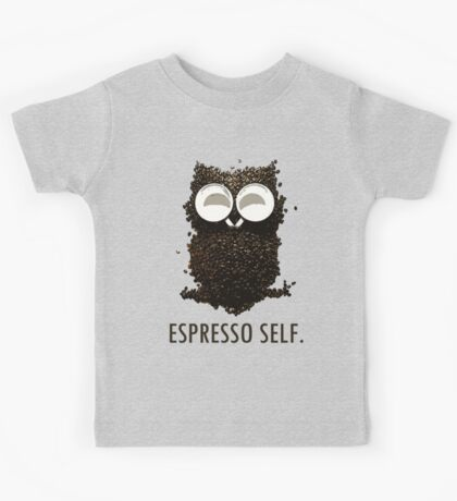 Espresso Self w/ text Kids Tee
