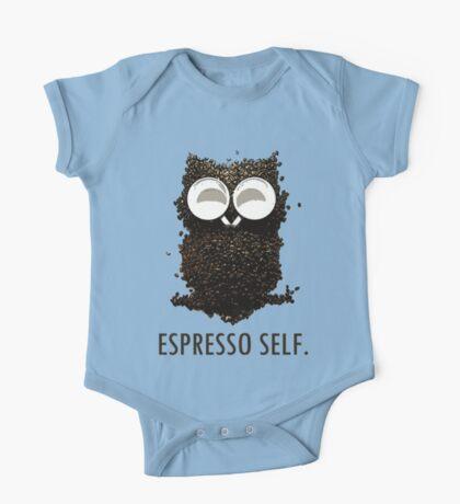 Espresso Self w/ text One Piece - Short Sleeve