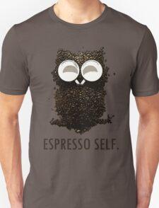 Espresso Self w/ text Unisex T-Shirt