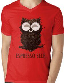 Espresso Self w/ text Mens V-Neck T-Shirt