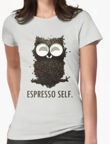 Espresso Self w/ text Womens Fitted T-Shirt