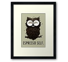 Espresso Self w/ text Framed Print