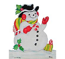 Let it SNOW man Photographic Print