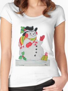 Let it SNOW man Women's Fitted Scoop T-Shirt