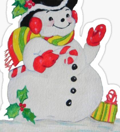 Let it SNOW man Sticker