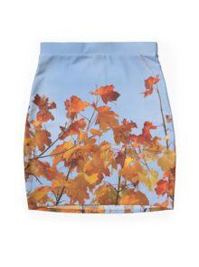 Leaves Like Flames Mini Skirt