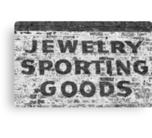 Jewelry Sporting Goods BW Canvas Print