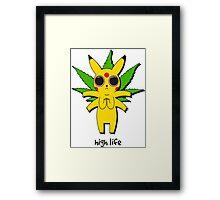 Stoned Pikachu Framed Print