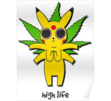 Stoned Pikachu Poster