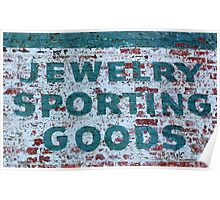 Jewelry Sporting Goods Poster
