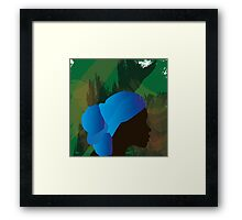 African Woman Silhouette Framed Print