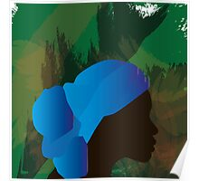 African Woman Silhouette Poster