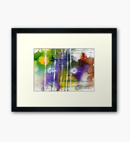 Green and purple abstract Framed Print