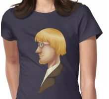 Vidcund Curious Bust Portrait Womens Fitted T-Shirt