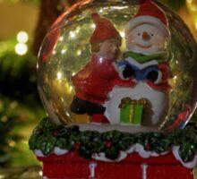 Christmas snow globe ball.  Sticker