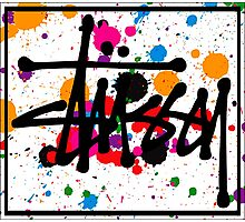 STUSSY art colors brush - limited Photographic Print