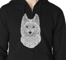 Geometry wolf Zipped Hoodie