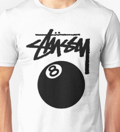 STUSSY EIGHT BALL BLACK Unisex T-Shirt