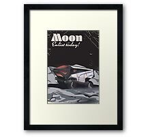 "Moon - ""Enlist Today"" Sci-fi poster Framed Print"