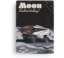 """Moon - """"Enlist Today"""" Sci-fi poster Canvas Print"""
