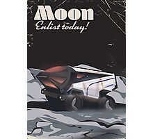 """Moon - """"Enlist Today"""" Sci-fi poster Photographic Print"""