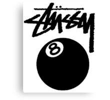 STUSSY EIGHT BALL BLACK Canvas Print