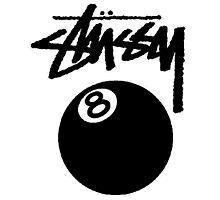 STUSSY EIGHT BALL BLACK Photographic Print