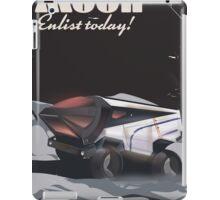 "Moon - ""Enlist Today"" Sci-fi poster iPad Case/Skin"