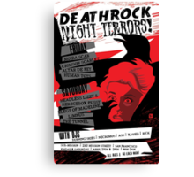 Poster for Deathrock Night Terrors I   The Birds Canvas Print