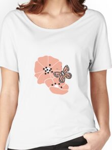 Butterflies and flowers pattern 003 Women's Relaxed Fit T-Shirt