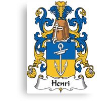 Henri Coat of Arms (French) Canvas Print