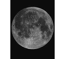 To The Moon & Back Photographic Print